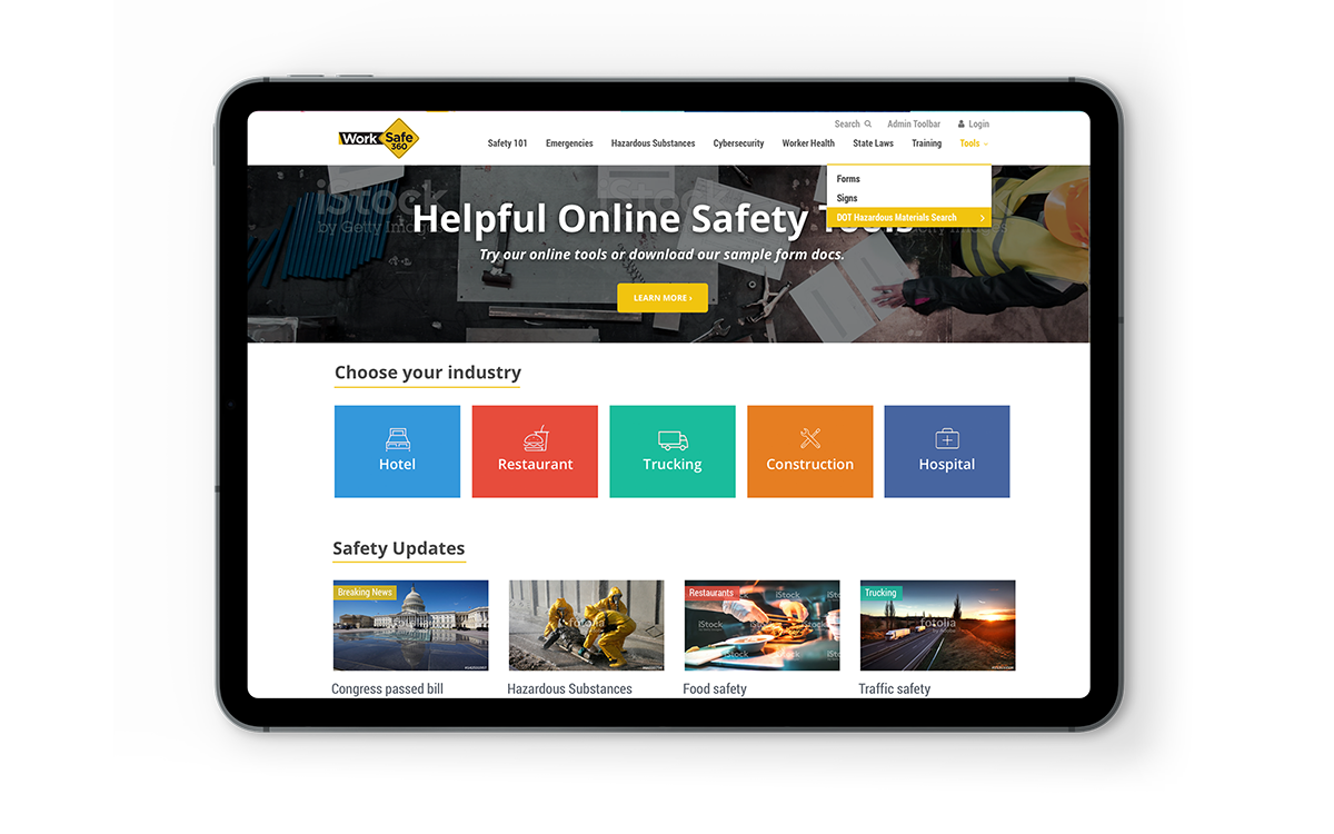 WorkSafe360 Website Design by Kristine Perry